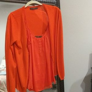 Orange Cami w/ cardigan from the Limited size XL